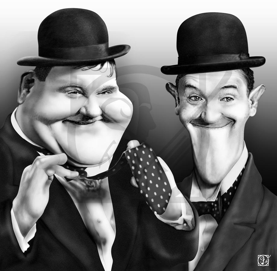 El Gordo y el Flaco (Laurel & Hardy) Javier Bardem