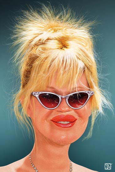 Melanie Griffith - caricatura - Andres Samper