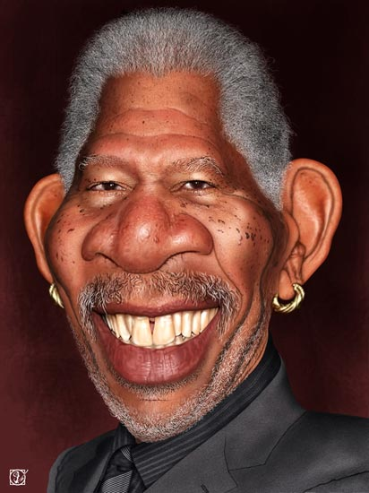 Morgan Freeman - caricatura - Andres Samper